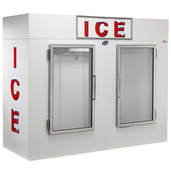 Leer 100ag 94 Indoor Auto Defrost Ice Merchandiser With Straight