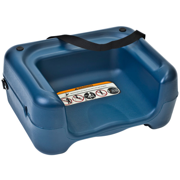 Koala Kare KB854-04S Blue Plastic Booster Seat with Safety Strap - Dual Height Main Image 1