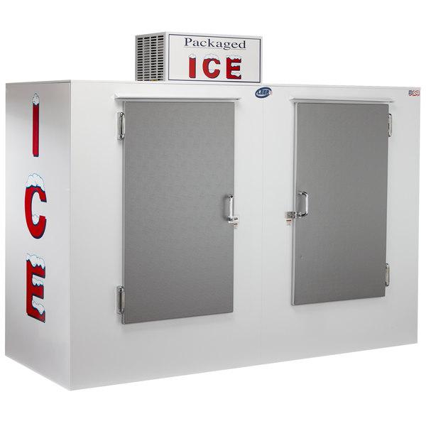 Leer single-door outdoor ice merchandiser