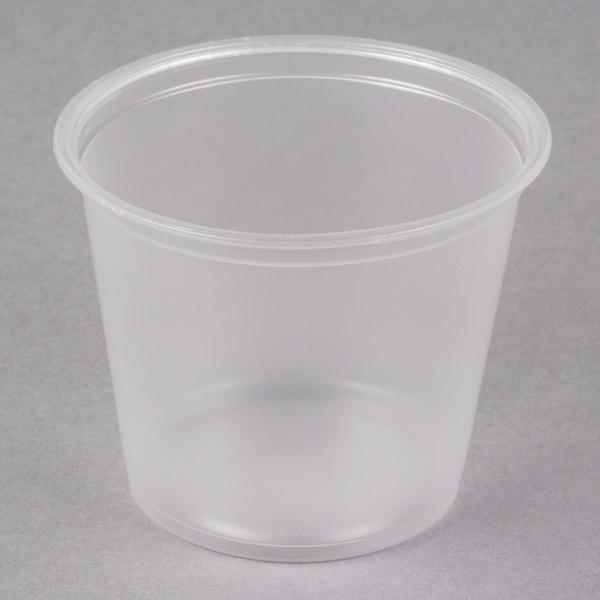 Dart Conex Complements 550PC 5.5 oz. Translucent Plastic Souffle / Portion Cup - 125/Pack