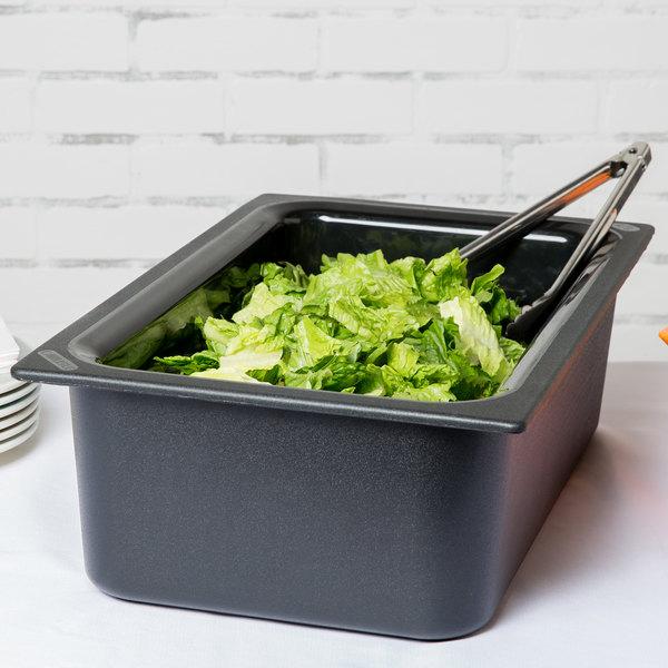 "Carlisle CM110003 Coldmaster Full Size Black Cold ABS Plastic Food Pan - 6"" Deep Main Image 2"