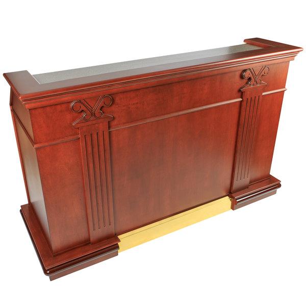 "Bon Chef 51000SKSC 75 7/8"" x 28 5/8"" x 47 1/8"" Portable Wood Liquor Bar with Sink Main Image 1"