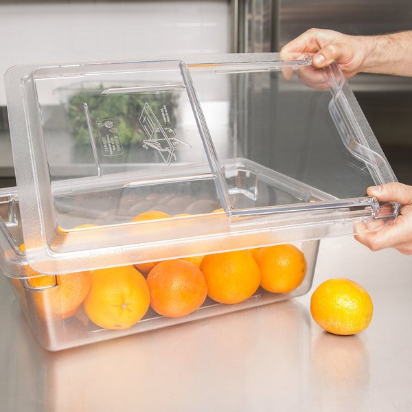 "Cambro 1218SCCW135 Camwear 18"" x 12"" Clear Sliding Lid for Food Storage Box Main Image 4"