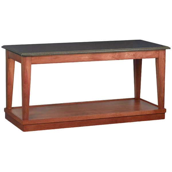"""Bon Chef 4RSTRE-BE 30"""" x 72"""" Rectangular Espresso Wooden Banquet Table with Light Cherry Finish"""
