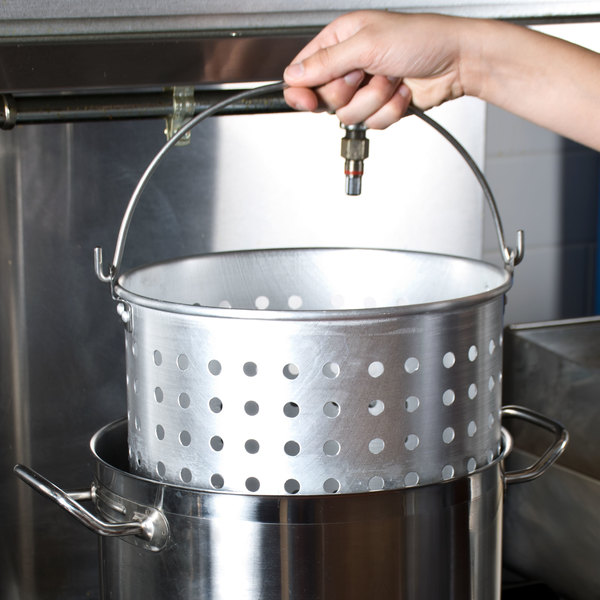 20 Qt. Aluminum Stock Pot Steamer Basket Main Image 10
