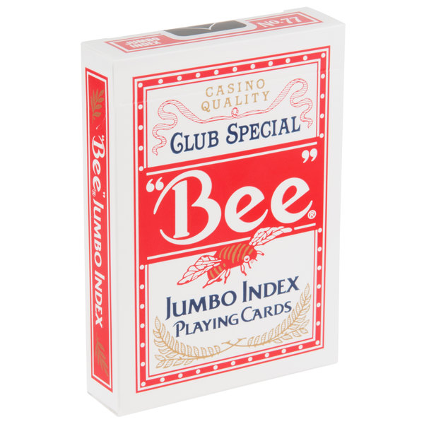 """bee\"""" jumbo font playing cardsimage preview; main picture"""
