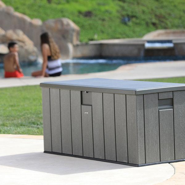 60215 Rough Cut Textured 150 Gallon Outdoor Storage Box & Lifetime Outdoor Storage Box - Outdoor Designs