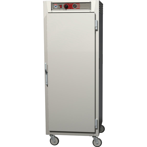Metro C569-SFS-LPFC C5 6 Series Full Height Reach-In Pass-Through Heated Holding Cabinet - Solid / Clear Doors