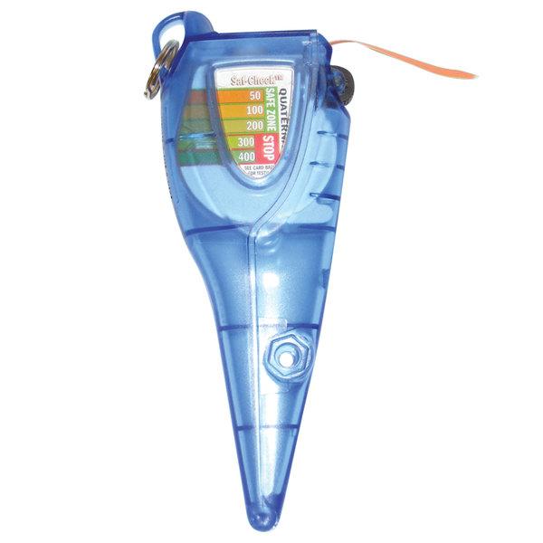 San Jamar SFC1250CL Saf-Check Thermometer Holder and Chlorine Sanitizer Test Strip Dispenser