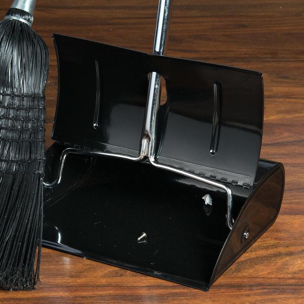 Impact Black Steel Lobby Dust Pan