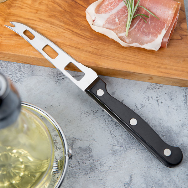 """Franmara 1077 8 1/8"""" Serrated Stainless Steel Cheese Knife"""