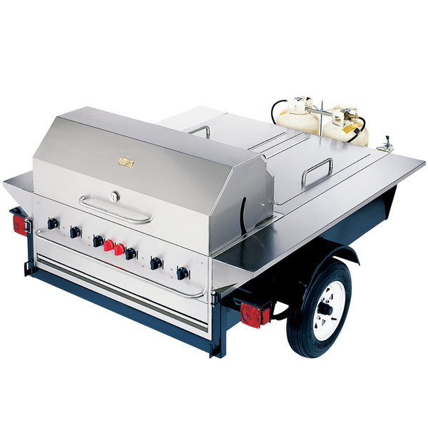 """Crown Verity TG-1 69"""" Tailgate Grill with Beverage Compartments"""