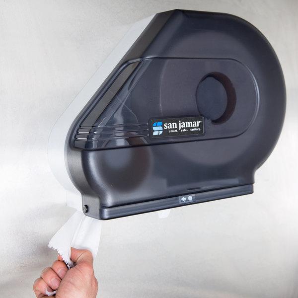 "San Jamar R3000TBK Reserva Classic 9"" - 10 1/2"" Jumbo Toilet Tissue Dispenser - Black Pearl"