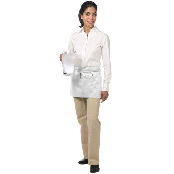 Chef Revival 605WAFH-WH Customizable White Front of the House Waist Apron - 12 inchL x 24 inchW