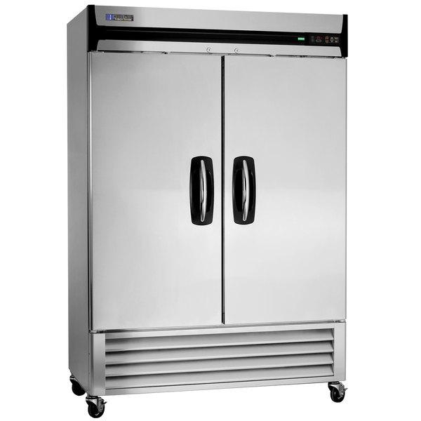 """Master-Bilt MBR49-S 55"""" Fusion Solid Door Reach-In Refrigerator"""