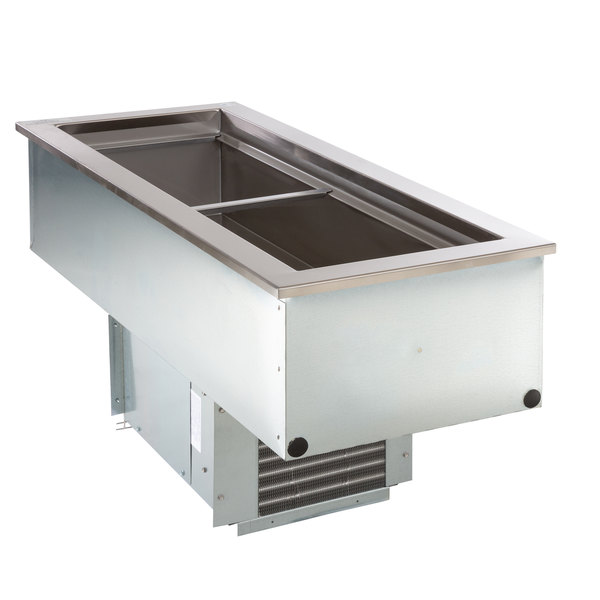 Delfield N8146NB Narrow Two Pan Drop In Refrigerated Cold Food Well Main Image 1