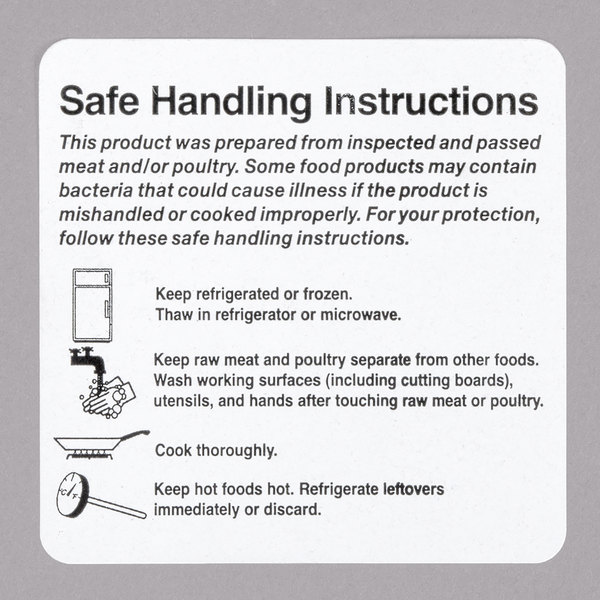 Food Handling Instructions