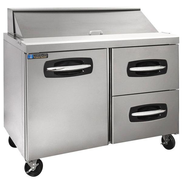 "Master-Bilt MBSP48-12A-002 48"" 1 Left Door 2 Drawer Refrigerated Sandwich Prep Table"