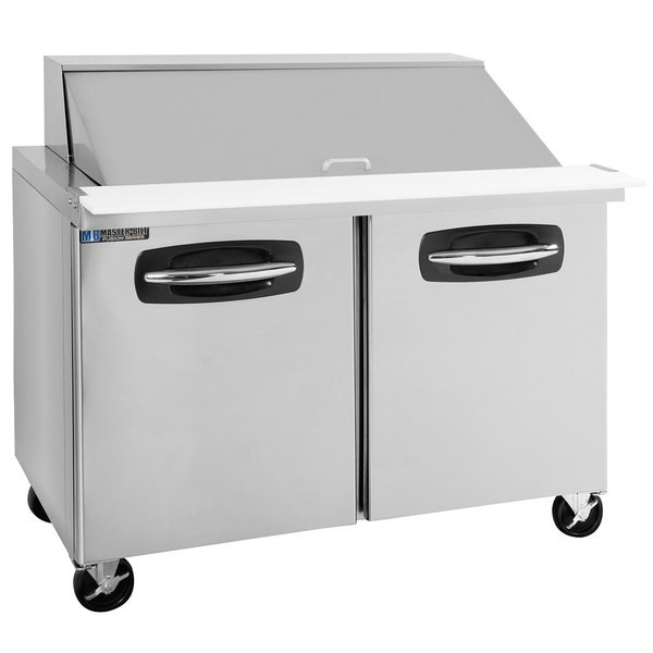 "Master-Bilt MBSMP48-18A 48"" 2 Door Mega Top Refrigerated Sandwich Prep Table Main Image 1"