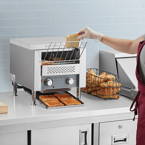 """Avatoast T140 Commercial 10"""" Wide Conveyor Toaster with 3"""" Opening - 120V, 1750W (Formerly Avantco T140) - 300 Slices per Hour Main Image 4"""
