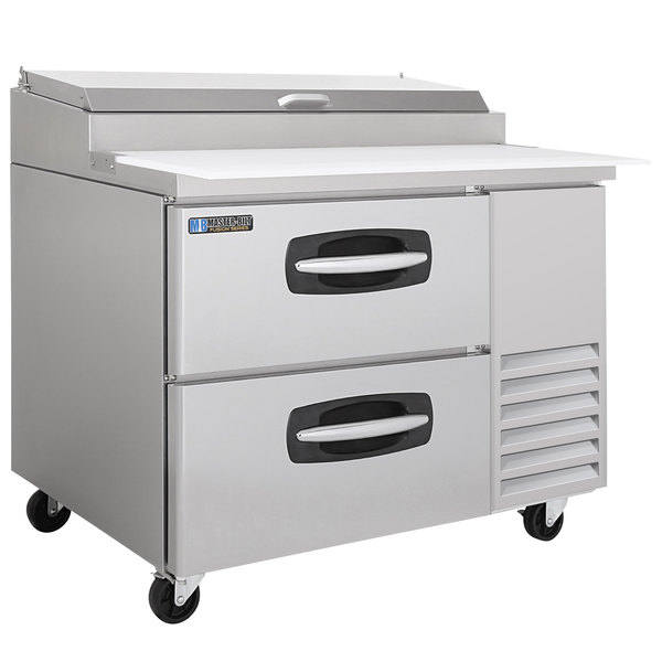 "Master-Bilt MBPT44-001 44"" 2 Drawer Refrigerated Pizza Prep Table"