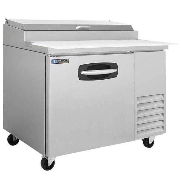 "Master-Bilt MBPT44 44"" 1 Door Refrigerated Pizza Prep Table Main Image 1"
