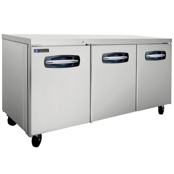 """Master-Bilt MBUR72A-015 72"""" Fusion Undercounter Refrigerator with Door Locks"""