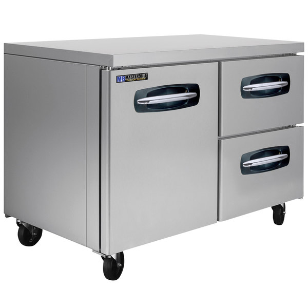 """Master-Bilt MBUR48A-002 48"""" Fusion Undercounter Refrigerator with 1 Left Door and 2 Right Drawers"""
