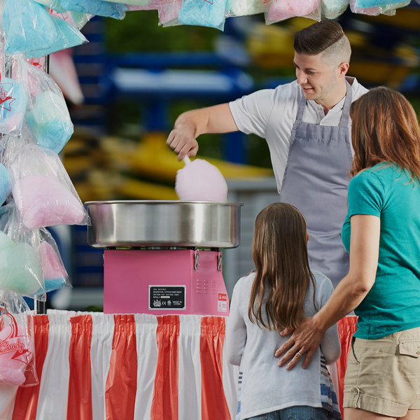 """Carnival King CCM21E Cotton Candy Machine with 21"""" Stainless Steel Bowl - 110V Main Image 4"""