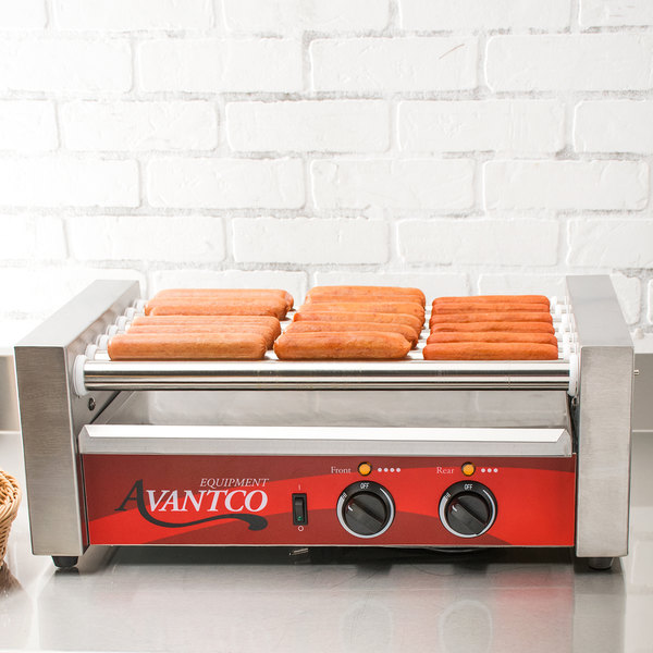 Avantco RG1818 18 Hot Dog Roller Grill with 7 Rollers - 120V, 590W Main Image 5