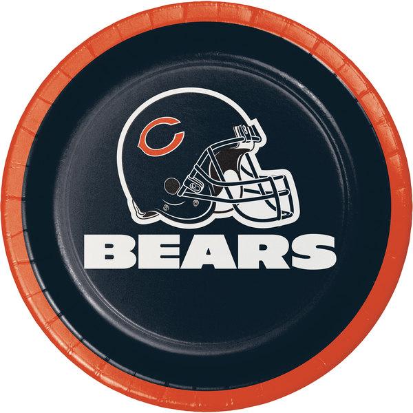 Creative Converting 419506 Chicago Bears 7  Luncheon Paper Plate - 96/Case  sc 1 st  WebstaurantStore & Creative Converting 419506 Chicago Bears 7