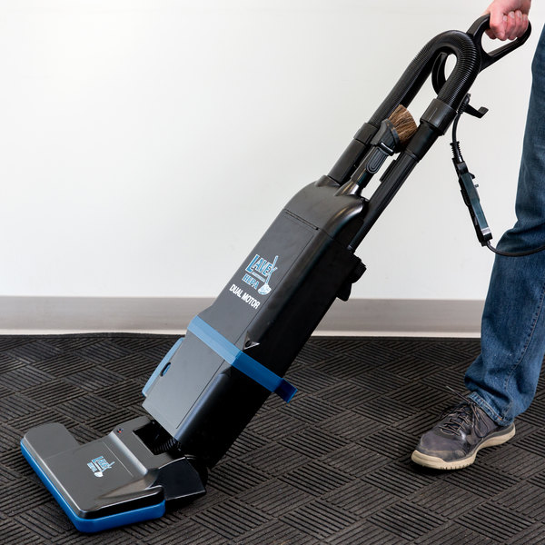 "Lavex Janitorial 15"" Dual Motor Upright Bagged Vacuum Cleaner with HEPA Filtration Main Image 5"