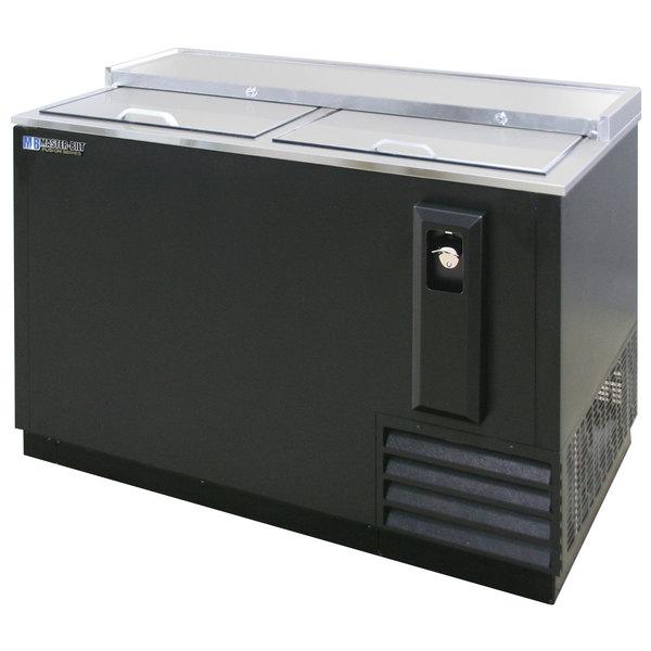 "Master-Bilt MBBC50 Fusion 50"" Black Horizontal Bottle Cooler"