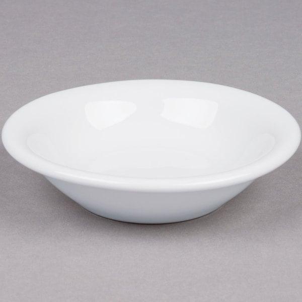 Tuxton ALD-046 Alaska 4 oz. Bright White China Fruit Bowl / Monkey Dish - 36/Case