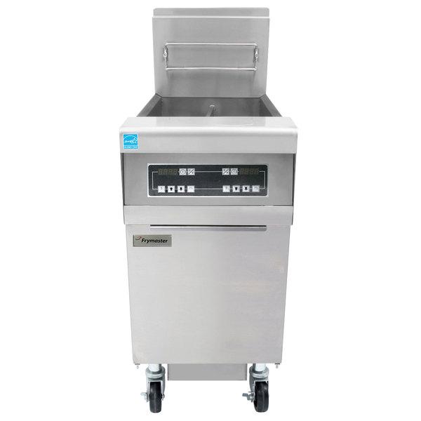 Frymaster FPH155 Liquid Propane 50 lb. High-Efficiency Gas Floor Fryer with Digital Controls - 80,000 BTU Main Image 1