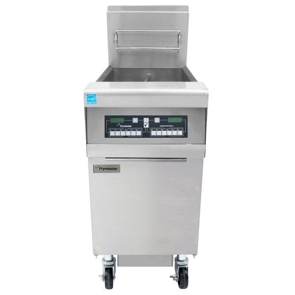 Frymaster FPH155 Liquid Propane 50 lb. High-Efficiency Gas Floor Fryer with CM3.5 Controls - 80,000 BTU Main Image 1