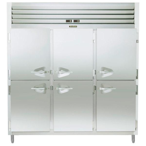 Traulsen RDT332NUT-HHS Stainless Steel 60.7 Cu. Ft. Three Section Half Door Narrow Reach In Refrigerator / Freezer - Specification Line