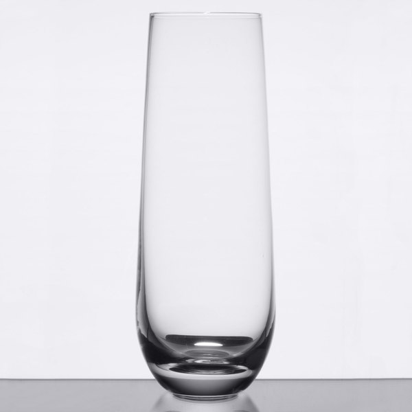 Acopa 10 oz. Stemless Flute Glass - 12/Case