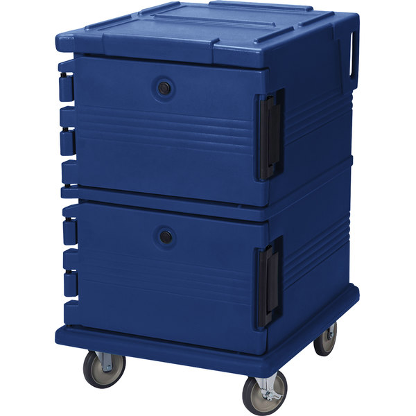 Cambro UPC1200186 Ultra Camcarts® Navy Blue Insulated Food Pan Carrier - Holds 16 Pans Main Image 1