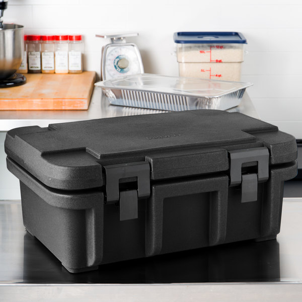 "Cambro UPC160110 Black Camcarrier Ultra Pan Carrier - Top Load for 12"" x 20"" Food Pan"