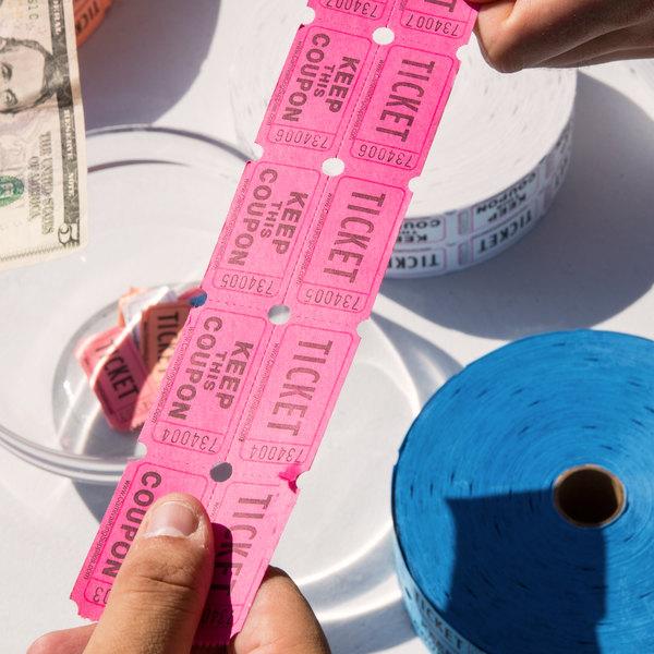 carnival king magenta 2 part raffle tickets 2000 roll