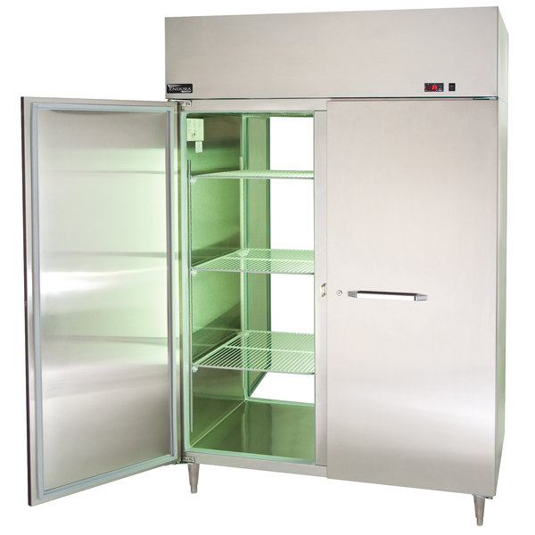 "Master-Bilt MPW554SSS/8 Endura 55"" Insulated Full Height Stainless Steel Pass-Through Holding Cabinet"