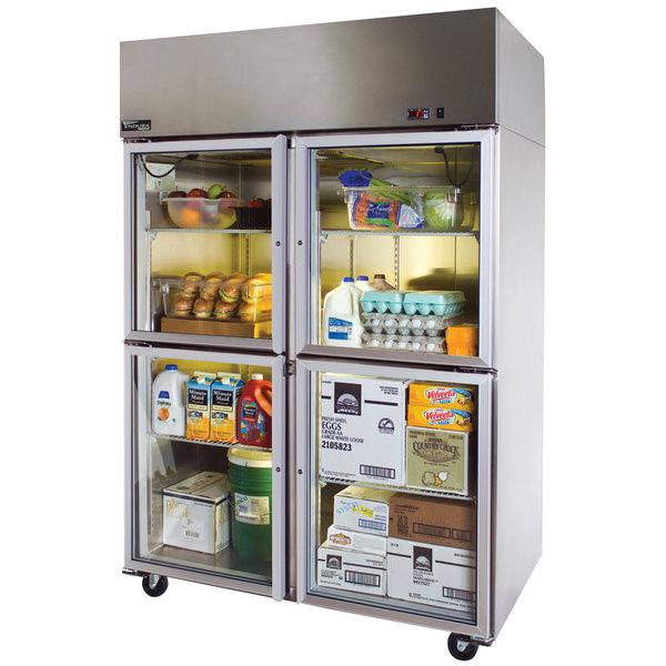 """Master-Bilt MNR524SSG/0 Endura 55"""" Glass Half-Door Reach-In Refrigerator"""