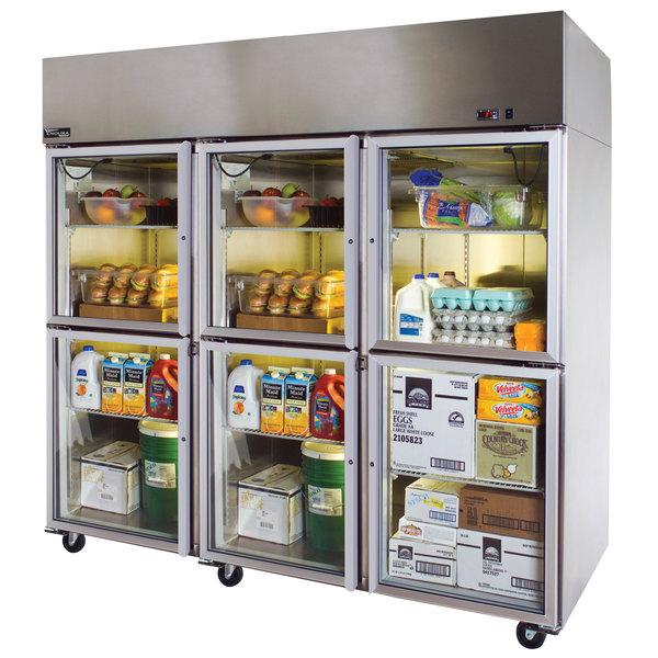 """Master-Bilt MNR806SSG/0 Endura 83"""" Glass Half-Door Reach-In Refrigerator"""