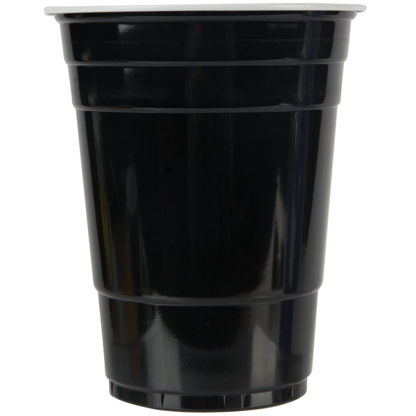 Choice 16 oz. Black Plastic Cup - 1000/Case