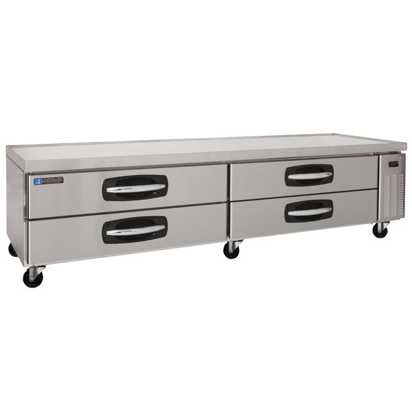 """Master-Bilt MBCB96 Fusion 96"""" 4 Drawer Refrigerated Chef Base Main Image 1"""
