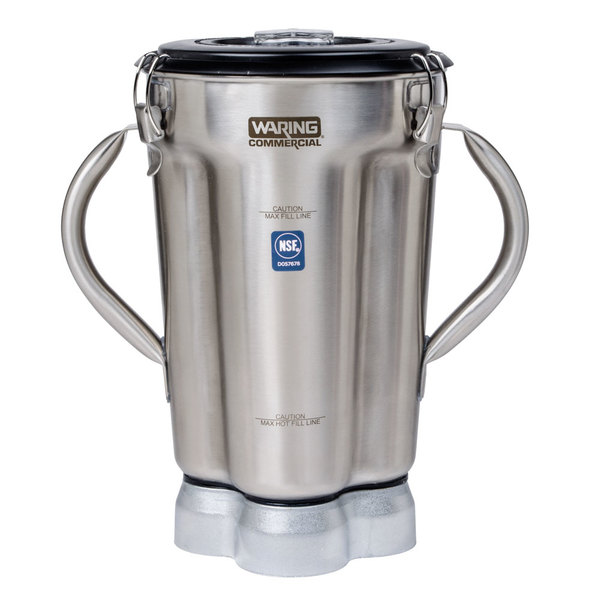 Waring CAC72 Replacement Stainless Steel Gallon Container with Blade Assembly and Lid for CB Series Food Blenders