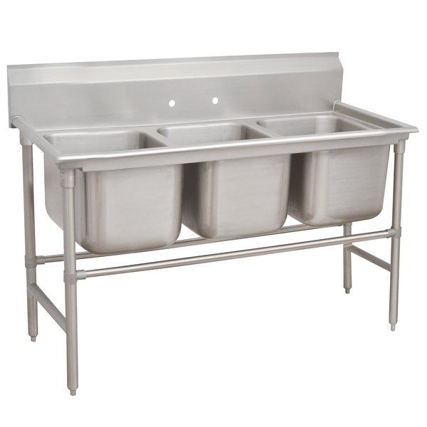 "Advance Tabco 94-3-54 Spec Line Three Compartment Pot Sink - 62"""