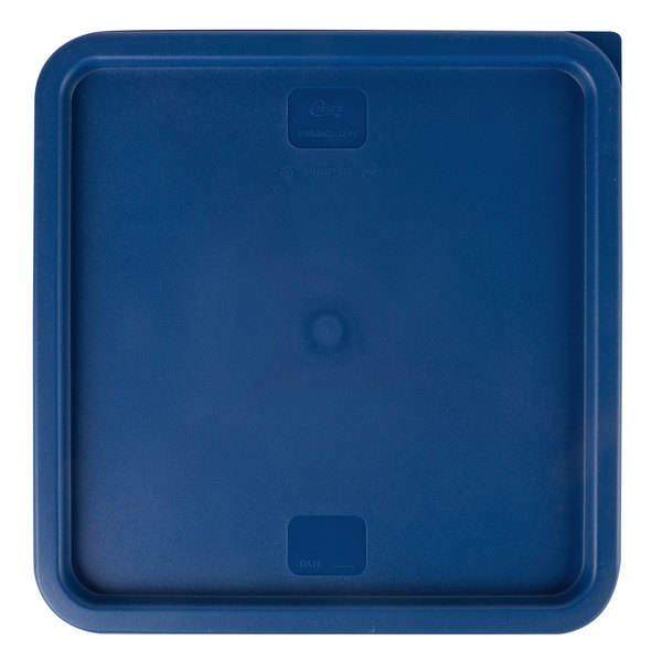 Choice 12, 18, and 22 Qt  Blue Square Polyethylene Food Storage Container  Lid