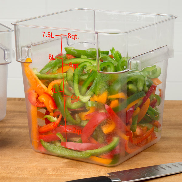 Clear polycarbonate food storage container